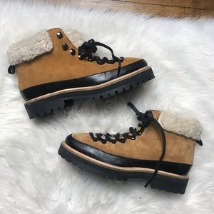 Urban Outfitters Brown Suede Hiking Boots